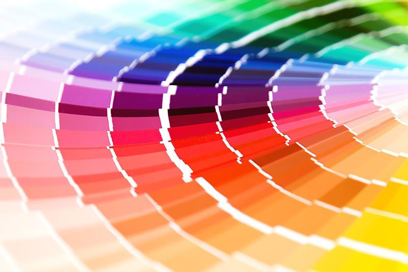 Farverne er vigtige for virksomhedens visuelle identitet