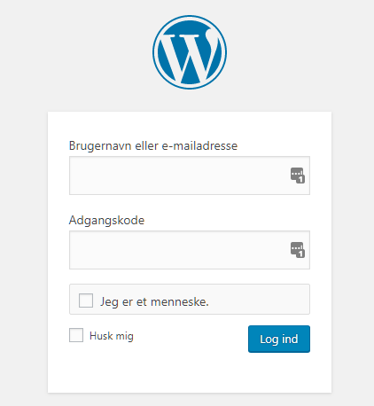 login til wordpress