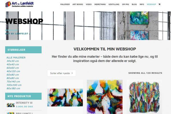 Webshop Art by Lønfeldt