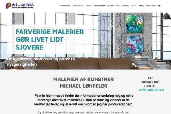 hjemmesiden Art by Lønfeldt