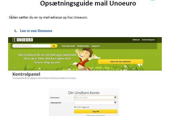 opsætning nye emailkonti